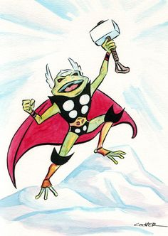 Thor Frog (Throg) by Colleen Coover