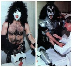The rock group KISS provided Marvel Comics with vials of their blood to be mixed with printers' ink used in Marvel Comics Super Special (Kiss) #1 (1978)