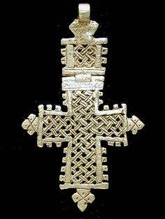 hinged Ethiopian cross