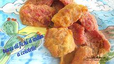Non avevo mai mangiato le bucce di fichi d'india a cotoletta e devo dire che sono rimasta piacevolmente sorpresa!! Ho vinto la diffidenza che le bucce di f