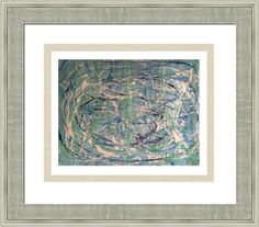abstract blue green 8216, by  fractal mandala art