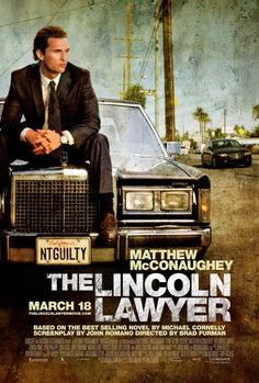 The Lincoln Lawyer on DVD July 2011 starring Matthew McConaughey, Marisa Tomei, Ryan Phillippe, William H. Mickey Haller (Matthew McConaughey) is a Los Angeles criminal defense attorney who operates out of the back of his Lincoln Continental sedan Matthew Mcconaughey, Cinema Art, Films Cinema, See Movie, Movie Tv, Movies Showing, Movies And Tv Shows, Ryan Phillippe, Lincoln Lawyer