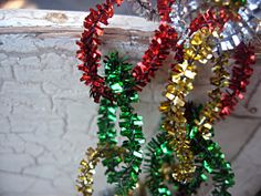 Pipe cleaner garland- make for tree :)