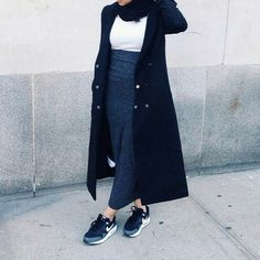Minimal Sporty Chic Hijab | We Heart It