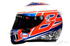 El casco de  Jenson Button, McLaren