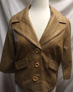 Emu Sheepskin Jacket Size Large Leather Naturally Australian Beige / Light Brown #Emu #BasicJacket