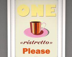 Kunst für Zuhause Vintage Poster Küche retro von whiteshoesandco ...