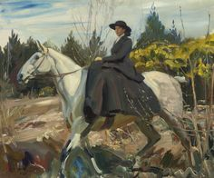 Sir Alfred James Munnings, P.R.A., R.W.S. 1878-1959 BRITISH THE MORNING RIDE