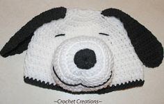 Amy's Crochet Creative Creations: Snoopy Dog Child Hat