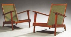 Pair of Andre Sornay Lounge Chairs   Mid Century