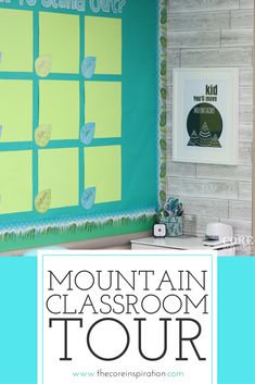 This mountain themed classroom is such an inspiration for creating a calm learning environment. My students are surrounded by the colors of nature, and the feeling is so fresh and bright. Perfect classroom setup for self-directed learning, flexible seating, and staying organized this school year.