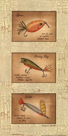 Fishing Lures by Becca Barton art print Fosterginger.Pinterest.ComMore Pins Like This One At FOSTERGINGER @ PINTEREST No Pin Limitsでこのようなピンがいっぱいになるピンの限界