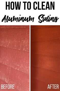 Remove years of dirt and grime in just minutes! I'll show you how to clean aluminum siding without a power washer! Turns oxidized aluminum siding back to its original state in just minutes! Check out my tips at The Handyman's Daughter! Deep Cleaning Tips, House Cleaning Tips, Spring Cleaning, Cleaning Hacks, Cleaning Aluminum Siding, Painting Aluminum Siding, How To Clean Aluminum, Cleaning Painted Walls, Glass Cooktop