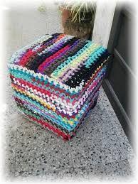 Resultado de imagen para como hacer una funda en crochet para puff