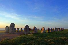 Ale's Stones Megalithic monument , Sweden | Hidden Travel Place
