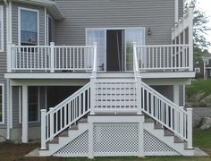 Deck Stairs With Landing | Porch Design Ideas U0026 Decors