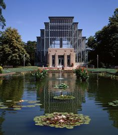 Jewel Box   Located in Forest Park, home of the St.Louis Art Museum and the St. Louis Zoo.  Admission $1, free on Mondays and Tuesdays!
