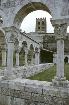 The Cistercian Abbey of Senanque, founded in The cloisters. Antibes, Provence Lavender, Juan Les Pins, The Cloisters, Provence France, Great Photographers, 12th Century, Photo Archive, Medieval