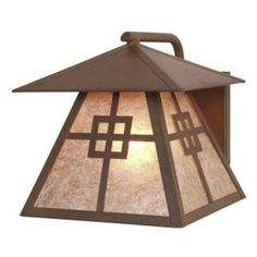 Steel Partners Prairie 1 Light Outdoor Sconce Finish: Architectural Bronze, Shade Type: Bungalow Green