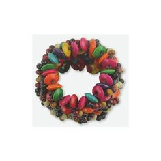 NOVICA Colorful Wide Wood Beaded Stretch Bracelet (82 PLN) ❤ liked on Polyvore featuring jewelry, bracelets, stretch, wood, tri color jewelry, multicolor jewelry, wood bead jewelry, multi color jewelry and wide bangle