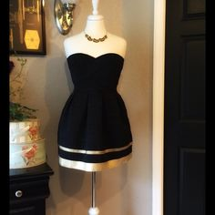 Sans Souci Black And Gold Dress New With Out Tags!!! Dresses Strapless