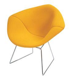 Harry Bertoia Diamond Chair in Yellow