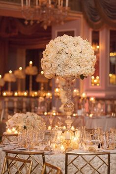 wedding centerpiece idea; photo: Captured Photography