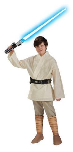 Star Wars Childs Deluxe Luke Skywalker Costume, Small $28.67