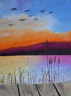Oil on Canvas: Sunset