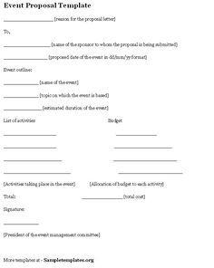 Official Proposal Template Project Proposal Template  Pinterest  Project Proposal Proposal .