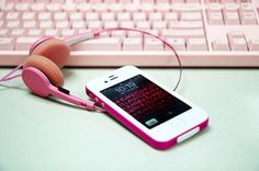 Delicate Pink iPhone Headset for Cute Girls