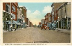 Downtown Area Looking East from the Public Square (circa 1920's)