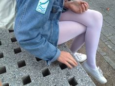 pastel tights and keds