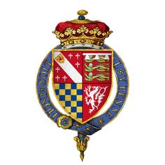 Coat of arms of Sir Thomas Howard, 2nd Duke of Norfolk, The Duke was the grandfather of both Queen Anne Boleyn and Queen Katherine Howard and the great grandfather of Queen Elizabeth I.