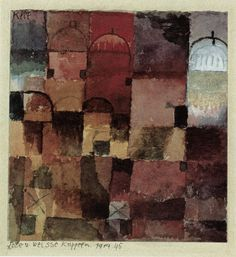 cavetocanvas:  Red and White Domes - Paul Klee, 1914