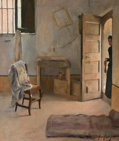 "Ramon Casas i Carbó (Catalan, 1866-1932) - ""Una casa desordenada"" [A disorderly house], c. 1890"