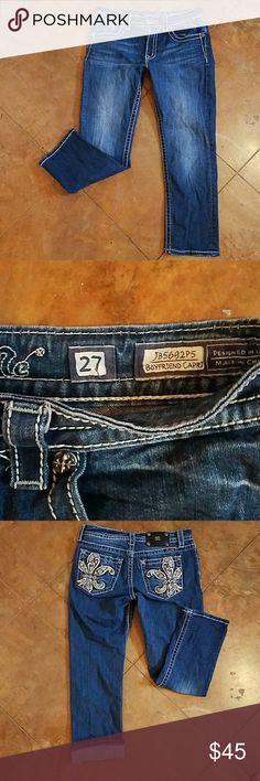 Miss Me Jeans boyfriend capri sz 27 Excellent condition worn once Miss Me Jeans Ankle & Cropped