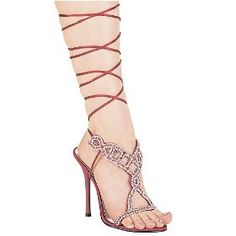 020f859538a8 Amazon com 457 Sandee Beaded Front Panel Sandals With Leg Tie High Heel Shoes  Shoes from