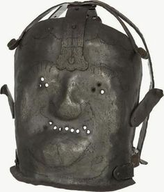 17th century mask for violent patients to keep them from biting people - Frightening Look At The Old Insane Asylums  Best of Web Shrine