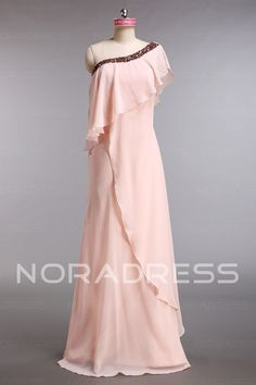 Natural Waist Elastic Satin Sweep Train Elegant Evening Dress With Beading - Noradress