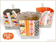 Tall Structured Fabric Box Baskets   Sew4Home
