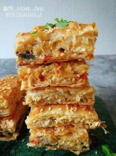 Μανιταρόπιτα με κρεμμύδια και φέτα. - Working Mama Spanakopita, Food For Thought, Feta, Ethnic Recipes, Projects