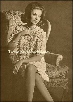 Fancy IRISH Lace DRESS Vintage Crochet by touchofnostalgia7