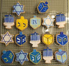 Felt Hanukkah cutout cookies! Order a set at FeltSewReal@aol.com A nice addition to any kitchen! Let your kids play with their food!!