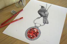 Tui & Garnet By Joanne Bowe New Zealand Artist