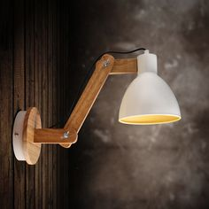 Retro Solid Wood Adjustable Swing Arm Light Wall Sconce Home Lamp Sconce Decor in Home, Furniture & DIY, Lighting, Wall Lights | eBay
