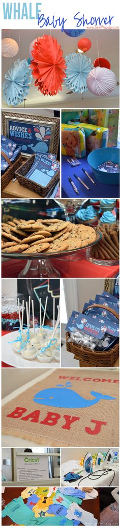 Great ideas for a Whale Baby Shower #boy #babyshower
