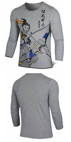 Be your own Overwatch shirt. Design is a Hanzo character on a gray cotton shirt.