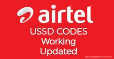 Updated List of All Airtel USSD Codes To Check Balance, 2G/3G/4G Net Balance and other Services
