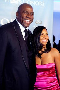 Earvin Johnson and wife Cookie